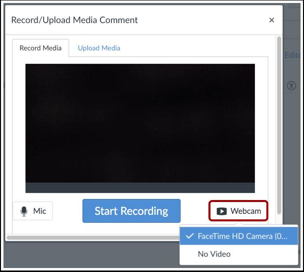 Selecionar Opção de Gravação de Vídeo