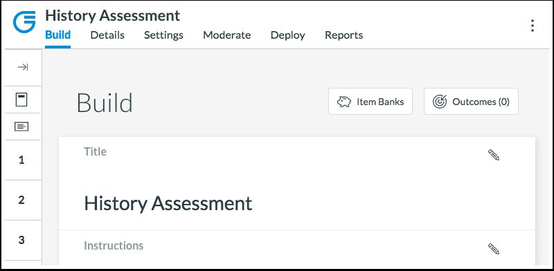 Build Assessments