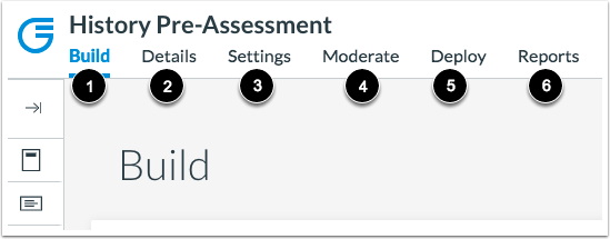 View Assessment Tabs