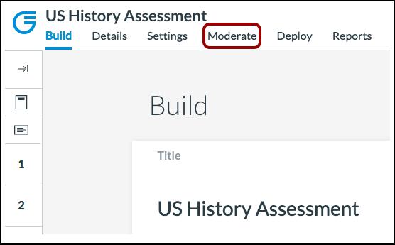 Moderate Assessment