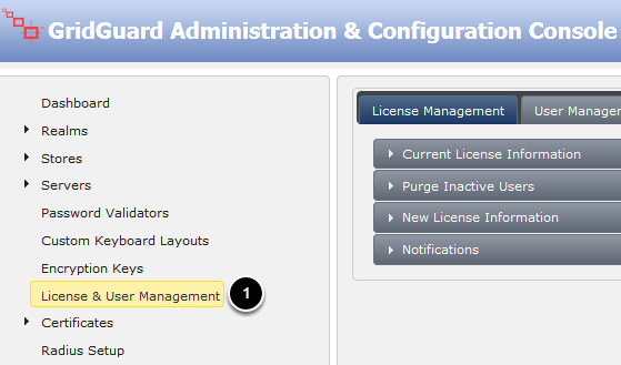 Launch the Administration & Configuration Console