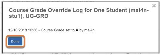 Override Log