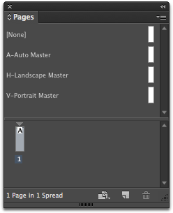 In InDesign, go to Window > Pages and drag one of the three master pages onto Page 1 of your document.