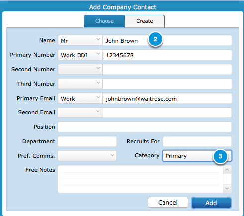 Adding Company Contacts