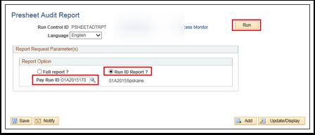 Presheet Audit Report