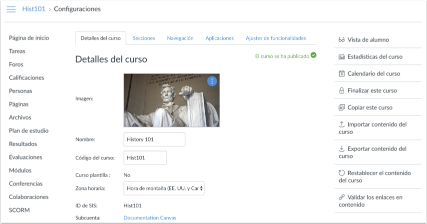 View Course in New Default Language