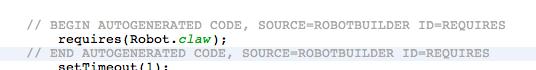 Autogenerated code