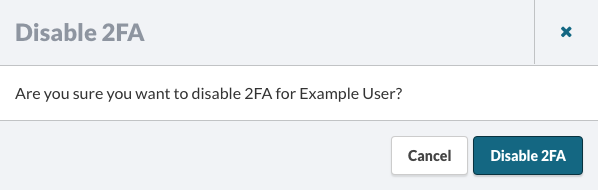 Disable 2FA
