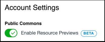 Edit Resource Previews