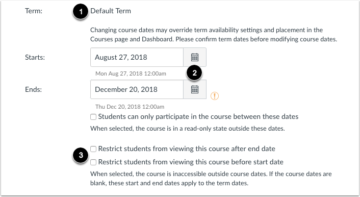 View Course Identification