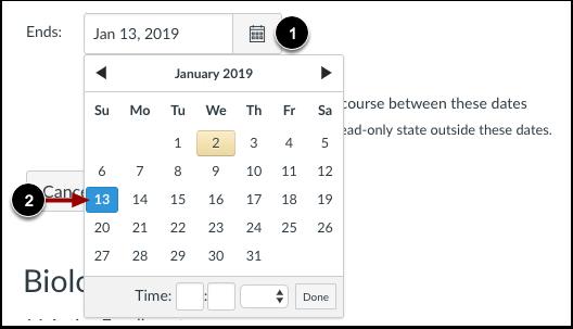 Set End Date
