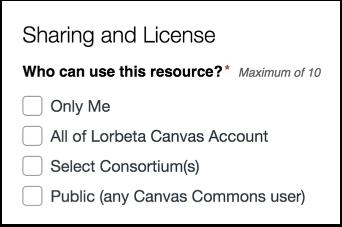 Choose Sharing Option