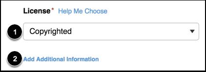 Choose Content License