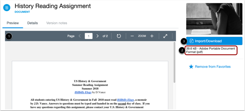 Preview Image or Document