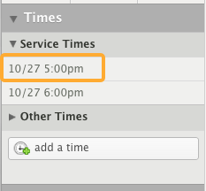 Click on a date/time.
