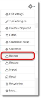 Backup link selected.