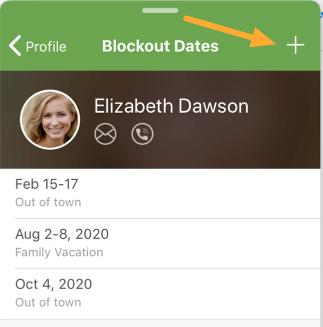 Profile blockout