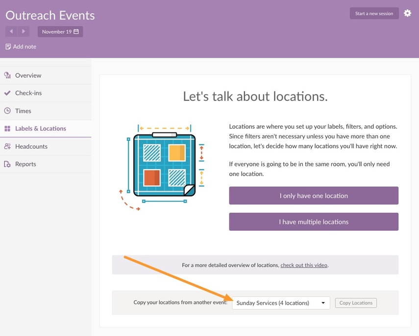 You'll see the option when creating a new Event