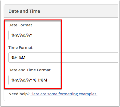 How to change the date and time format in your account