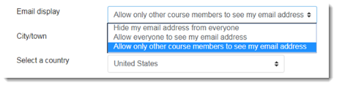 allow only other course members is selected