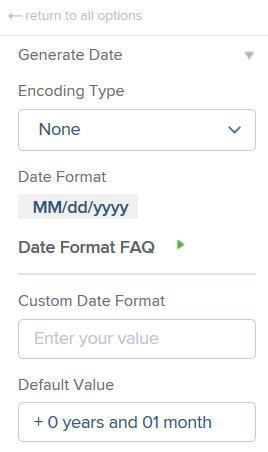 Generate Date – PX Knowledge Base