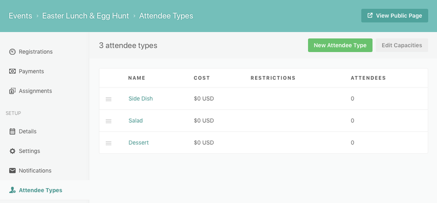 add attendee types