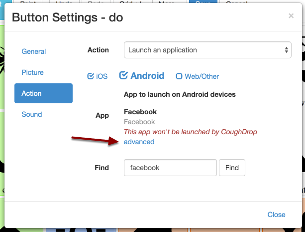 Advanced app settings