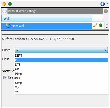 Displaying log curves