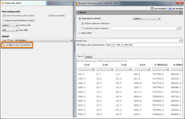 Importing ASCII file