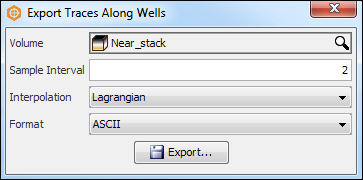 Export traces along a well path