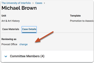 If you are assigned to more than one committee that has access to the case at the same time....