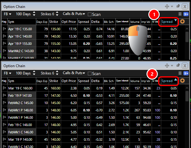 2. Right-click on the column header.