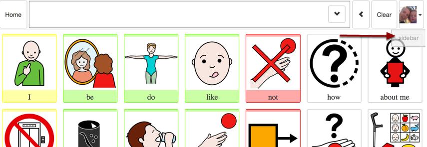 Sidebar button