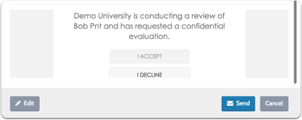 """Click """"Preview"""" to see how the request email will appear to the Evaluator"""
