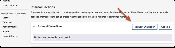 click request evaluation button