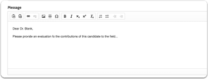 enter a message to the evaluator
