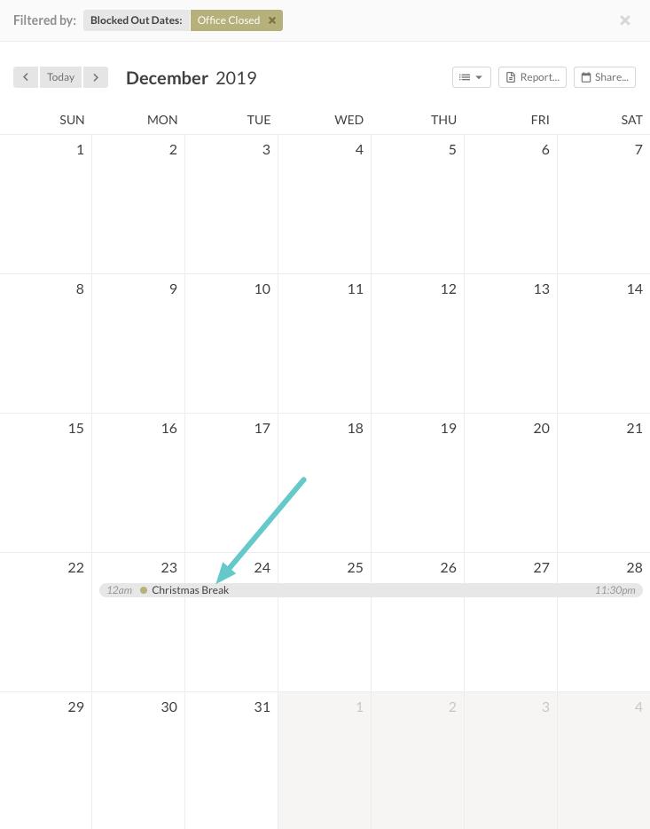 admin calendar