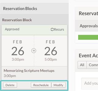 Editing Reservation Blocks