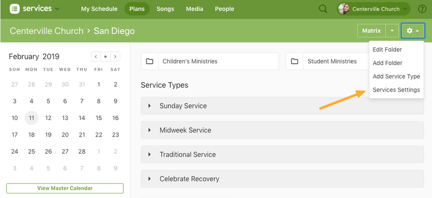 Access Services Site Settings