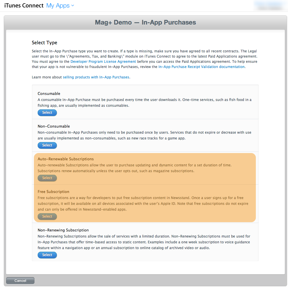 iOS - Creating In-App Purchases for Subscriptions – Mag+
