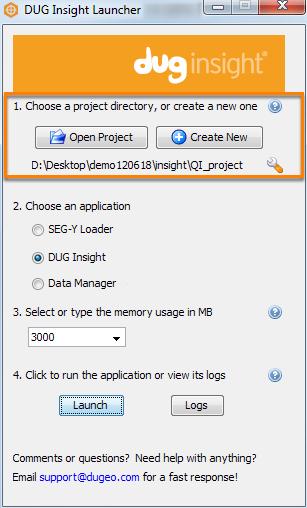 Open DUG Insight Launcher