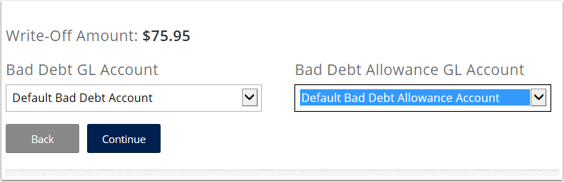 If you select Manual select the Bad Debt GL Account and Bad Debt Allowance Gl Account.