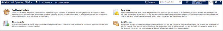 Navigate to Settings > Product Catalog and click on Price Lists.