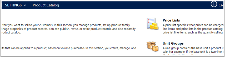 Navigate to Settings > Product Catalog > Price Lists