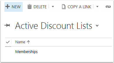 Select an existing Discount List or Create a New one.