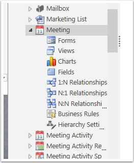 3. Select the arrow next to the Entity you wish to Customize and then click Fields and then click New.