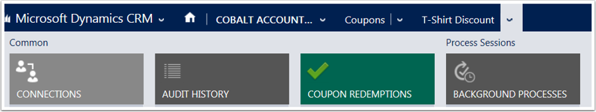 Open the Coupon and use the menu tiles to navigate to Coupon Redemptions