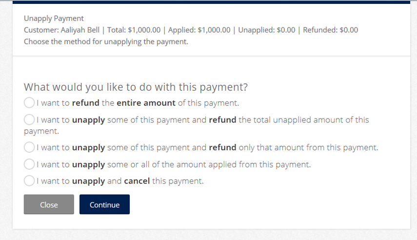 Running The Wizard from an Inactive Payment
