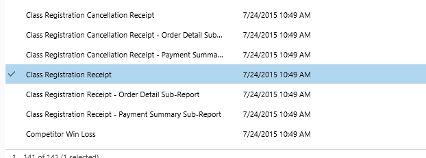 Open the Report Template for the Report you want to customize.