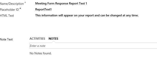 Add Report Text